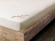 Brown & Cream Fitted Sheet: 100% Organic Cotton