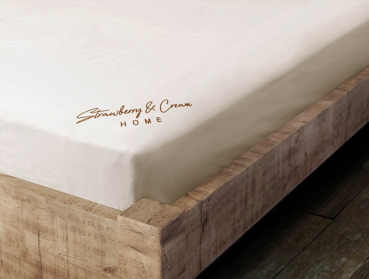Signature Fitted Sheet - Natural & Brown
