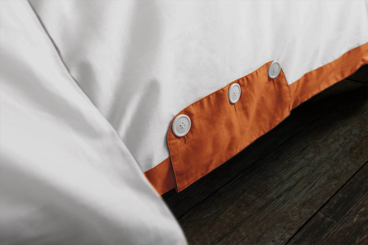 Orange and White Duvet Cover: 100% Organic Cotton