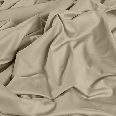 Beige Fitted Sheet: 100% Organic Cotton