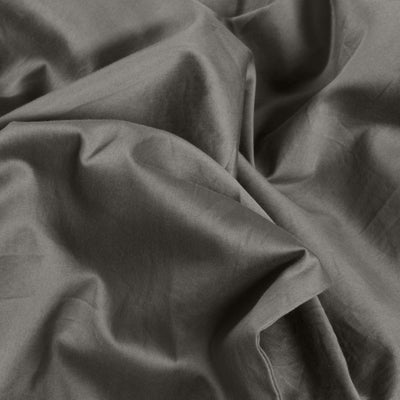 Classic 100% Organic Cotton Fitted Sheet - Stone Grey