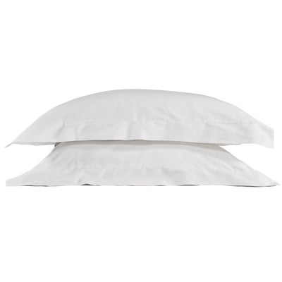 Classic Oxford 100% Organic Cotton Pillow Cases (pair) - White