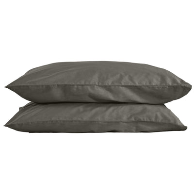 Classic 100% Organic Cotton Pillow Cases (pair) - Stone Grey