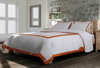 Signature Duvet Cover - White & Orange