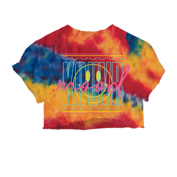 Kouvr Mood Primary Dyed Crop Tee