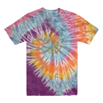 Mood Smiley Face Pastel Swirl Dyed Tee