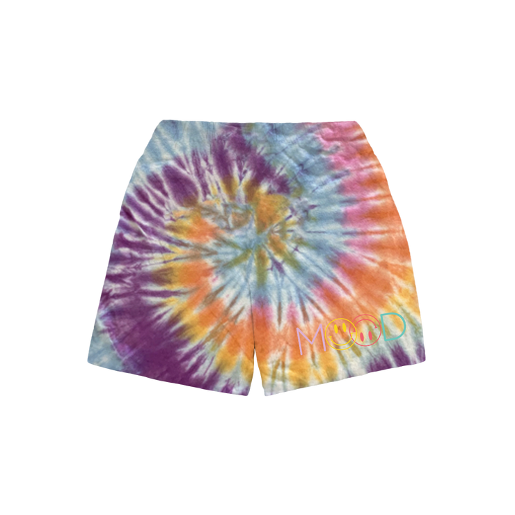 Mood Smiley Face Pastel Swirl Sweat Shorts