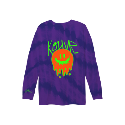 Drippy Smiley Long Sleeve Purple Wave