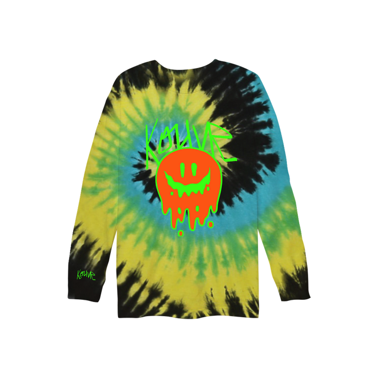 Drippy Smiley Long Sleeve Yellow Spiral
