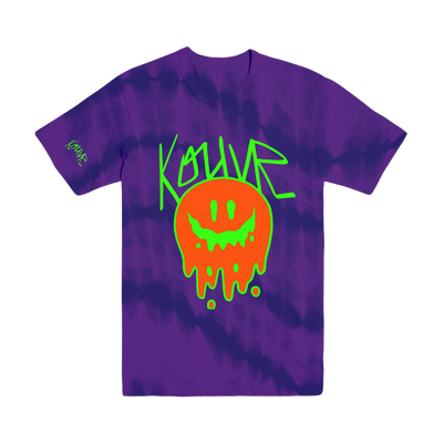 Drippy Smiley Tee Purple Wave