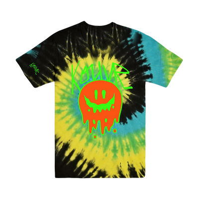 Drippy Smiley Tee Yellow Spiral