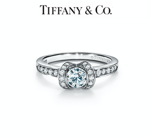 Tiffany Ribbon Engagement Ring in Platinum