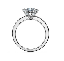 Load image into Gallery viewer, Tiffany Ribbon Engagement Ring in Platinum
