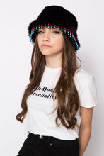 Load image into Gallery viewer, Dallas Hat Black & Beaded