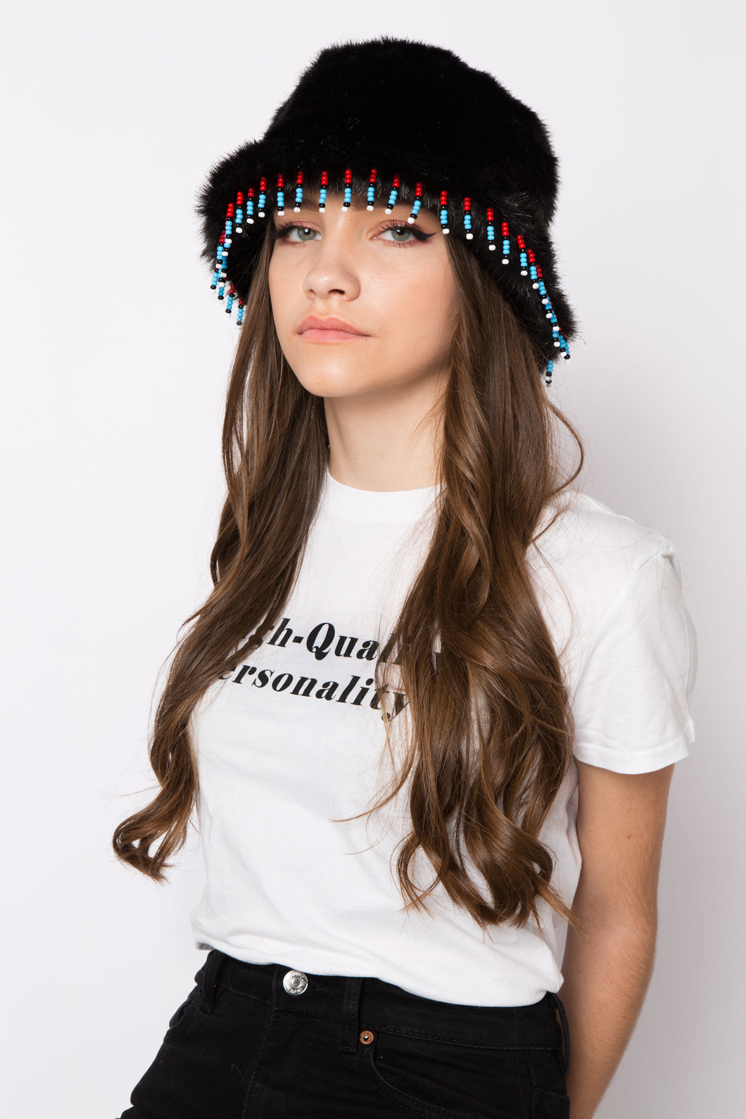 Dallas Hat Black & Beaded