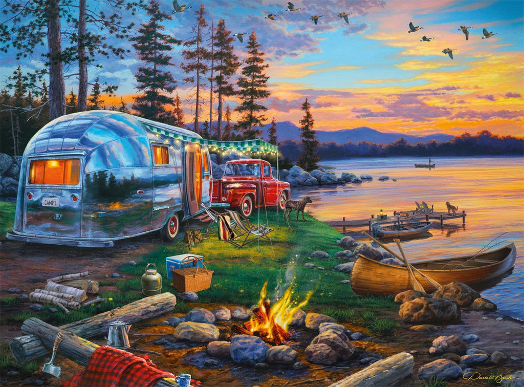 1000 Pieces Adult Puzzle - Darrell Bush Camping Reflections 1000 Piece Jigsaw Puzzle  Adult Kids Educational Toys Gift