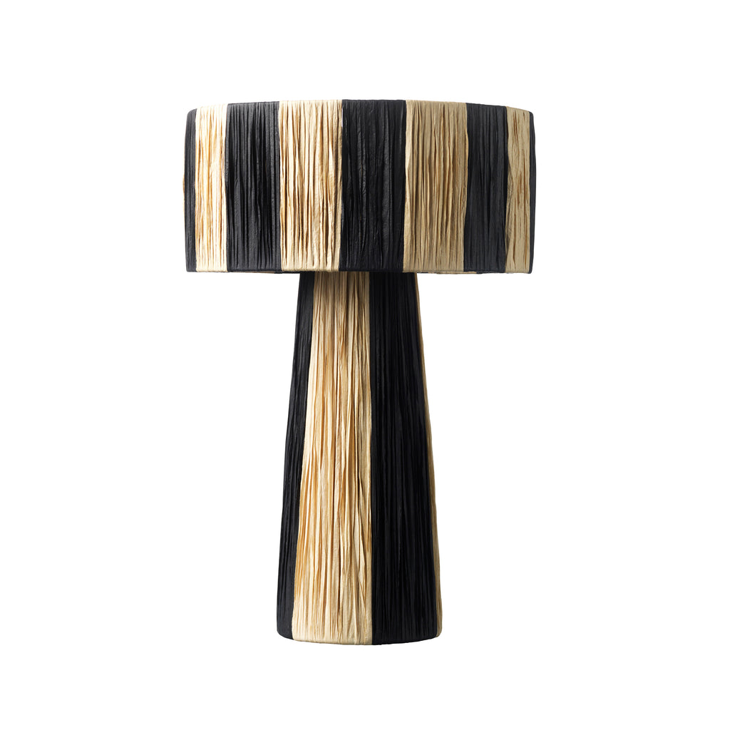 Mushroom | Black & nature, bordlampe - Jore Copenhagen