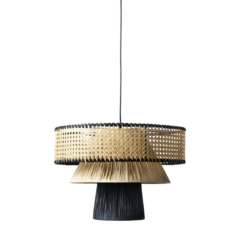Triple Cane | Black & nature, loftlampe - Jore Copenhagen