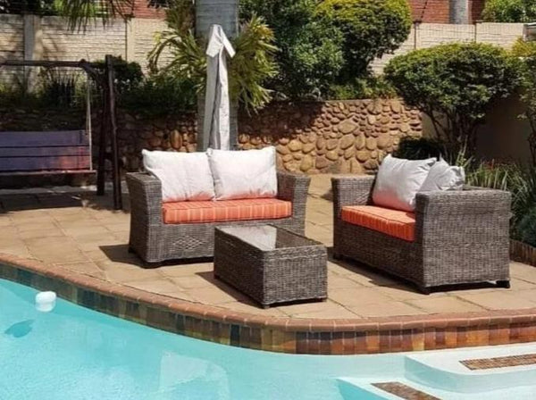 Outdoor Furniture Flat-top Design Set (2-seater couch) - ALLHANDDONEDESIGNS- Home & Garden Furniture