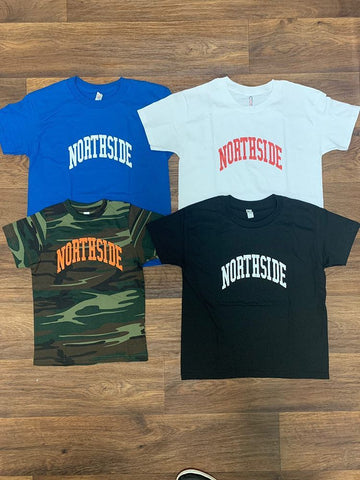 "Northside Kids ""EVERYDAY TEE"" - camo/black/blue/white"