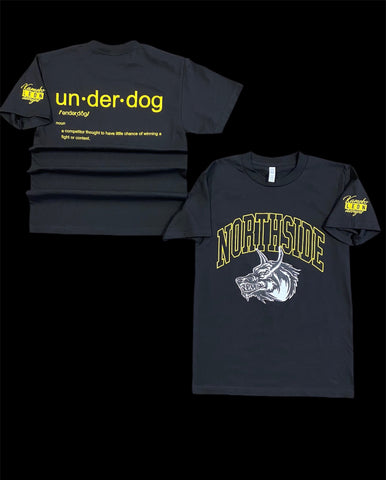 """UNDERDOG TEE"" - BLACK/YELLOW"