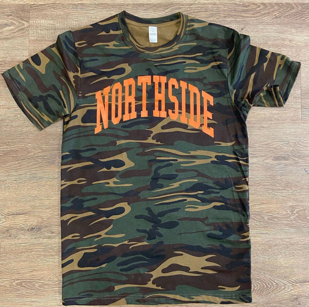 "EVERYDAY TEE"" CAMO/ORANGE – The northside clothing"