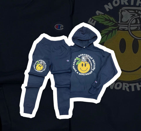 """Have a Northside Day"" Sweatsuit - Navy"