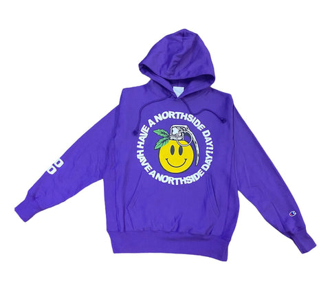 """Have a Northside Day"" Hoodie w/ Puff Print - Purple"