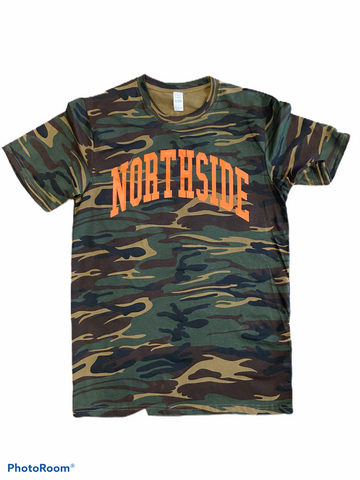 """EVERYDAY TEE"" CAMO/ORANGE"