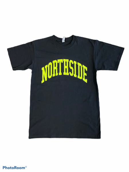"EVERYDAY TEE"" BLACK/SLIME GREEN – The northside clothing"