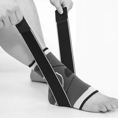 Ankle Brace Compression Support Wrap Sports Sleeve Adjustable Straps