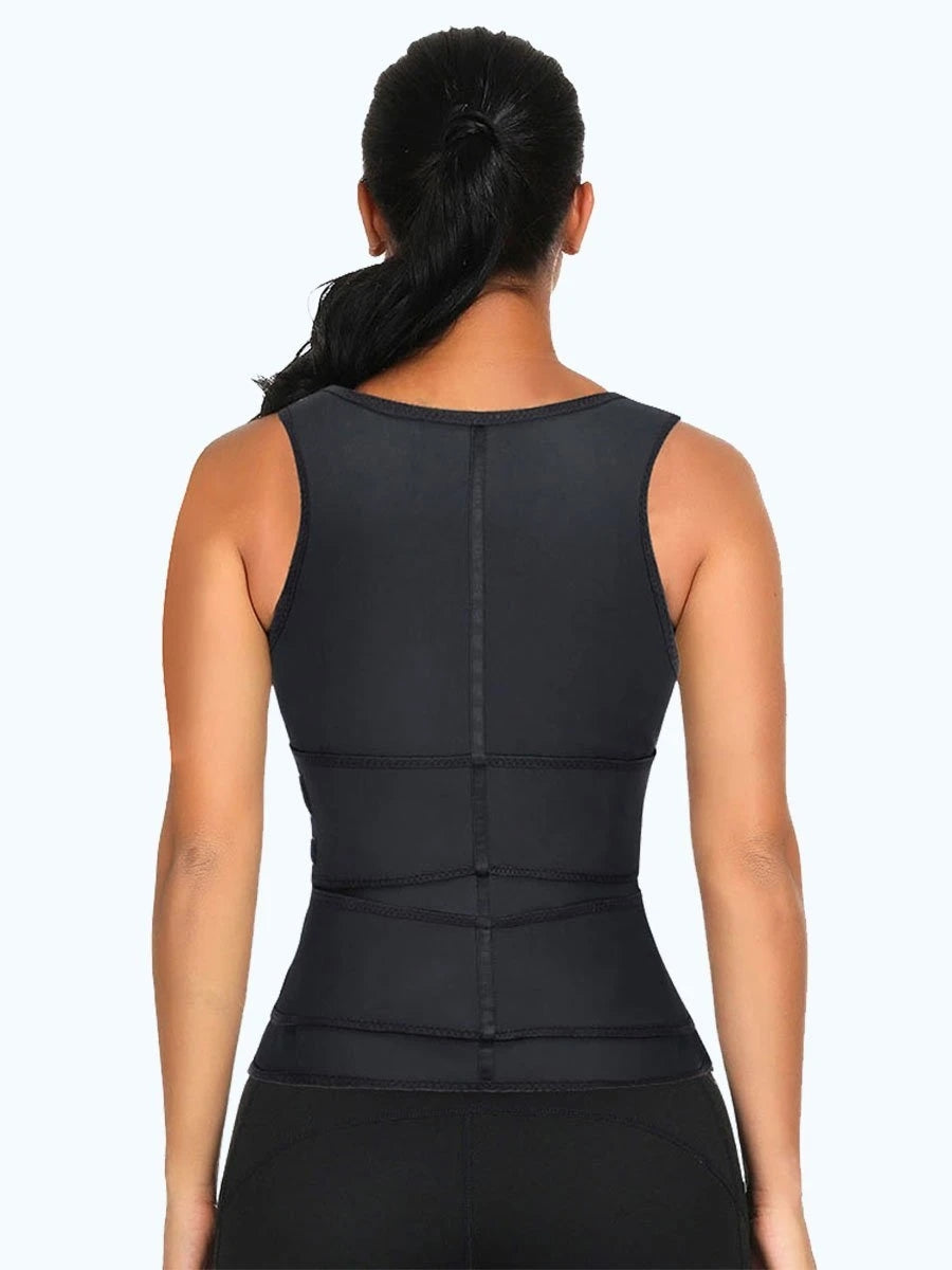 Premium Waist Trainer Vest Double Belt Body Shaper Women Body Slimming Shapewear