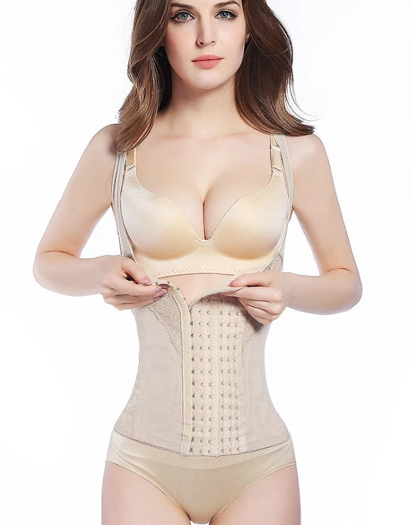 Plus Size Full Body Waist Trainer Cincher Vest Shaper with 6 Adjustable Hooks