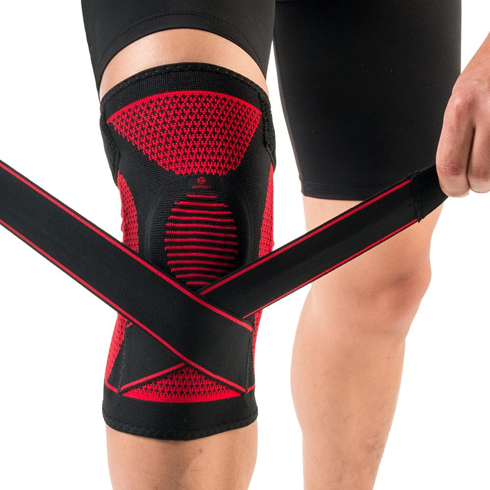 Knee Protector Sports Support Compression Sleeve Knee Brace Patella Stabilizer & Adjustable Straps