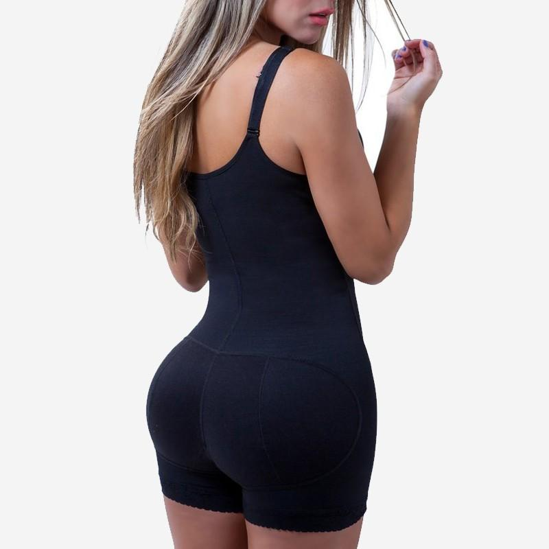 Shapewear bodysuit with Zipper Slimming Bodysuit with Butt Lifter