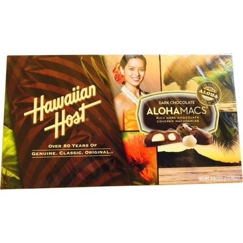 Hawaiian Host - Dark Chocolate Macadamia Nuts - Mr. Pineapple