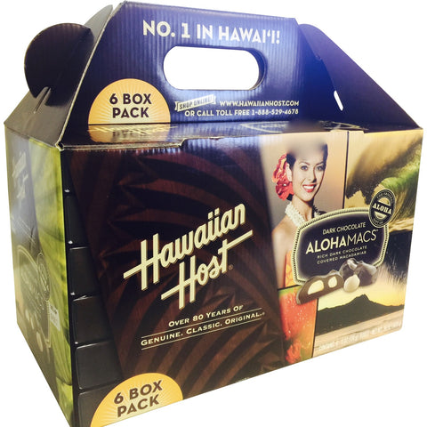 Hawaiian Host - Dark Chocolate Macadamia Nuts 6-Pack Case - Mr. Pineapple