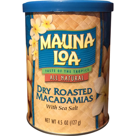 Mauna Loa - Dry Roasted Macadamias with Sea Salt - Mr. Pineapple