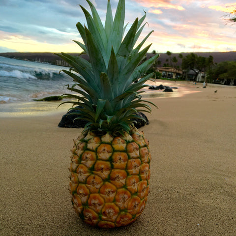 Pineapple at a Maui, Hawaii Sunset