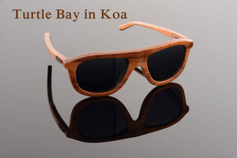 Maui Woody's Sunglasses - Turtle Bay in Koa Wood