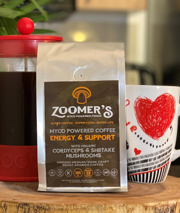 Ground Mushroom Coffee - Cordyceps & Shiitake / ENERGY & IMMUNE SUPPORT