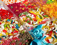 Selection of colourful pick and mix sweets