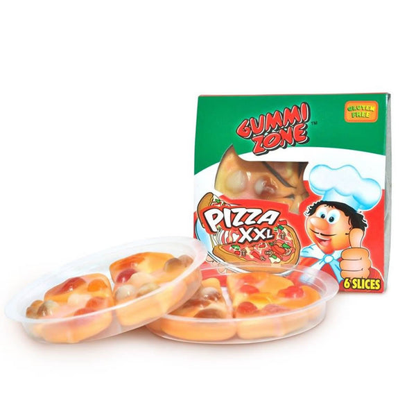 Gummy candy pizza slices