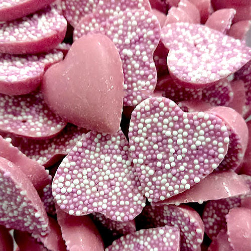 Pink Strawberry Candy Hearts - 250g Bag