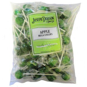 Joseph Dobson Apple Mega Lollies - 1.875kg