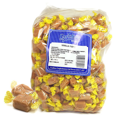 Vanilla Fudge Wrapped - 3kg Bulk Bag