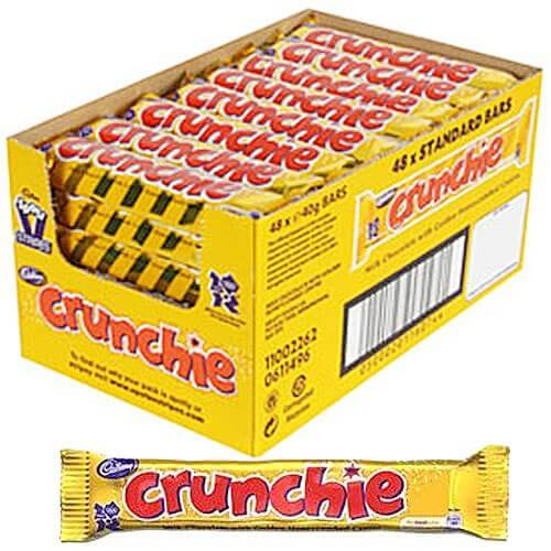 Cadbury Crunchie - 48 Count