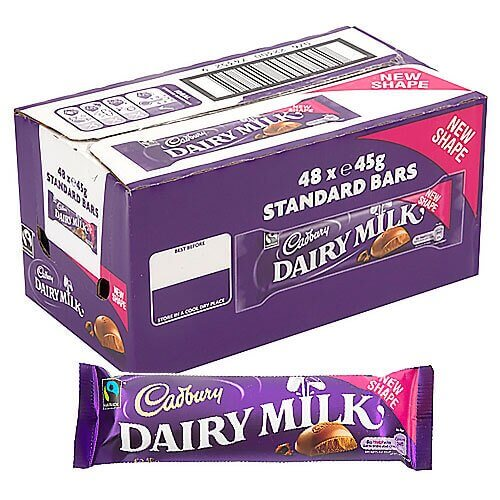 Cadbury Dairy Milk Bar - 48 Count