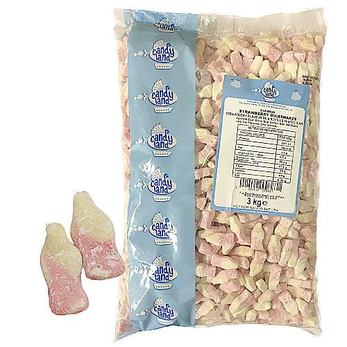Strawberry Milkshakes - 3kg Bulk Bag
