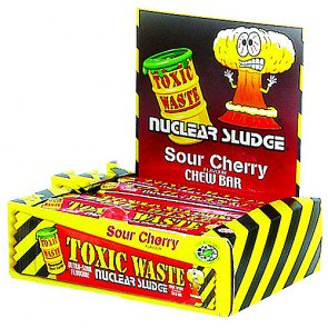 Toxic Waste Sour Cherry Chew Bars - 50 Count